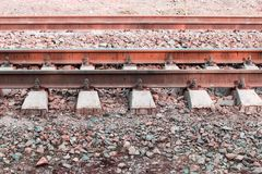 View of the railway track Stock Images