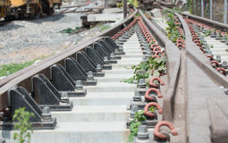 View of the railway track on a sunny day Royalty Free Stock Photo