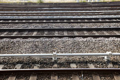 View of railway tracks Royalty Free Stock Photos