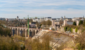 View of railway viaducts in Luxembourg Stock Photos