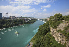View of Rainbow Bridge from  Niagara falls, NY, USA Stock Images