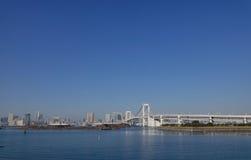 View of Rainbow bridge in Tokyo, Japan Stock Image