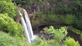 View of Rainbow Falls Area in Kauai, Hawaii stock video