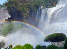 View of rainbow at Iguazu Falls Argentina Stock Image