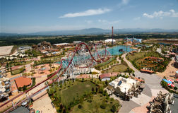 View on the Rainbow Magicland park. Rainbow MagicLand - themed amusement park located in Valmontone, near Rome Stock Photo