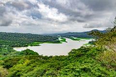 Lake Gatun, aerial view Royalty Free Stock Photos