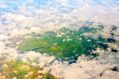 view in rainy season from air plane Stock Images