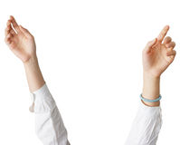 View of a raised hand Royalty Free Stock Images