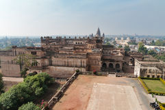 View of Raj Mahal palace from Jahangir Mahal or Orchha Palace Stock Photography
