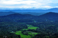 View From Raja's Seat. View of Kodagu (Coorg) from Raja's Seat in Madikeri Royalty Free Stock Photography