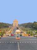 View on Rajpath boulevard to India Stock Photo
