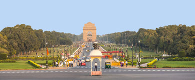 View on Rajpath boulevard to India Stock Images