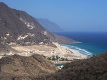 View on Rakhyut. Dhofar region, Oman Royalty Free Stock Images