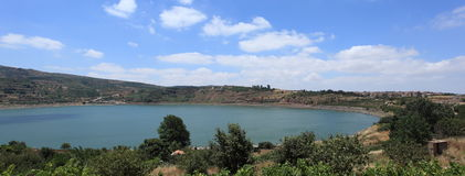 View of the Ram Pool in the Golan, Israel Stock Photos