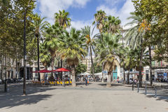 View of Rambla del Raval, Ciutat Vella district, Raval quarter. Barcelona. BARCELONA, SPAIN- SEPTEMBER 20, 2015: View of Rambla del Raval, Ciutat Vella district Stock Image