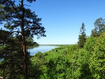 View from Rambynas hill in river Nemunas, Lithuania Royalty Free Stock Photography