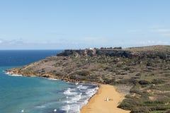 View on Ramla Bay on Malta on Mediterranean Sea, Europe.  Royalty Free Stock Photography