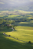 View from the ramparts of the city of Pienza Stock Images