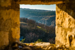 View through ramparts Royalty Free Stock Images