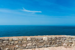 View from the ramparts of the sea. Royalty Free Stock Photo