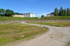 View of ramparts in summer day. Hamina, Finland Royalty Free Stock Images