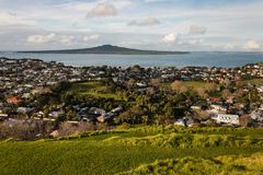 View of Rangitoto Island from Devonport Stock Photos