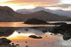 View on Rannoch Moor Scottish Highlands. Stock Images