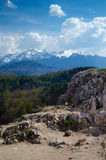 View from Rasnov Fortress royalty free stock photography