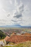 View of Rasnov from fortress. Transylvania, Brasov Royalty Free Stock Images