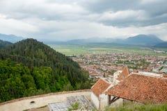 View from Rasnov - medieval fortress from Transylvania, Romania Stock Photo