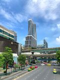 View of Ratchaprasong Intersection in Bangkok Thailand Stock Image