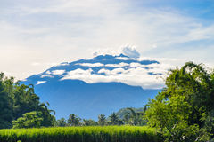 View of Raung Mountain from Jember. Photo taken at Jember, East Java, Indonesia stock images