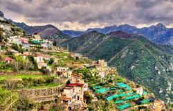 View of Ravello village on the Amalfi Coast. In Italy Royalty Free Stock Images