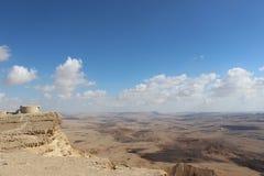 View of the ravine in Mizpe Ramon, Israel Stock Photos