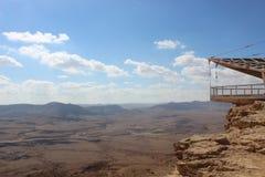 View of the ravine in Mizpe Ramon, Israel Royalty Free Stock Image
