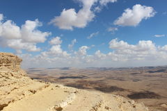 View of the ravine in Mizpe Ramon, Israel Royalty Free Stock Images