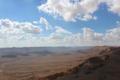 View of the ravine outside Mizpe Ramon, Israel Royalty Free Stock Photos