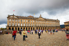 View of the Raxoi Palace in Santiago de Compostela, Spain Royalty Free Stock Images
