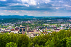 View of Reading from the Pagoda on Skyline Drive in Reading, Pen Stock Image