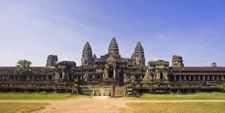 View from the rear entrance to Angkor Wat Royalty Free Stock Photo