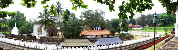 View of the rear entrance to the Temple of Tooth relic Royalty Free Stock Photos