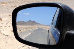 View in the rear mirror Stock Photos