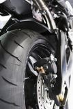 View of rear motorbike tyre Stock Images