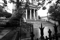 View of the rear part of the building of Notre Dame de Paris. Stock Photos