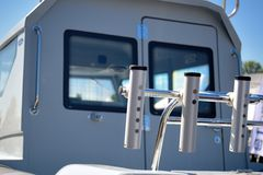 View of rear section of yacht Royalty Free Stock Image