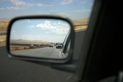 View of the Rearview 2 Royalty Free Stock Photo