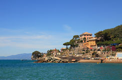 View on Recco - popular touristic resort. Stock Photography