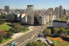 View of Recoleta region in Buenos Aires. Stock Photo