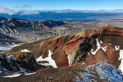View from the Red Crater in the Tongariro National Park, New Zea Stock Photos