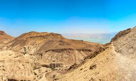 View of the red desert in israel royalty free stock image